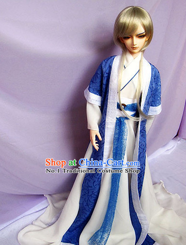 Asian Fashion Chinese Hanfu Clothing Complete Set for Men