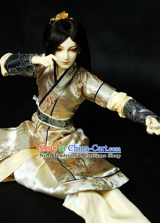 e2c583209 Asian Fashion Chinese Kung Fu Master Costume Hanfu Complete Set for Men
