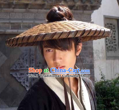 Asian Fashion Chinese Traditional Swordman Bamboo Hat