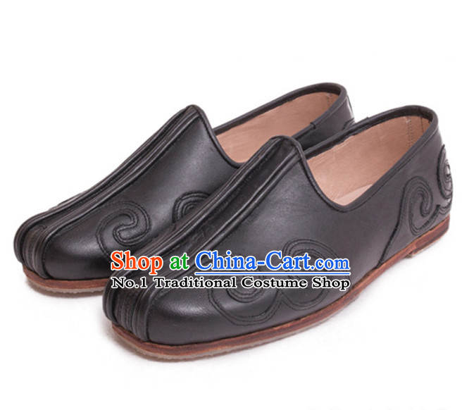 Black Handmade Chinese Traditional Shoes Footwear