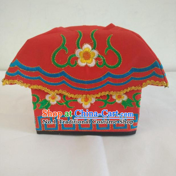 Oriental Stage Performance Peking Opera Hat for Men