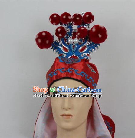 Oriental China Stage Performance Superhero General Hat