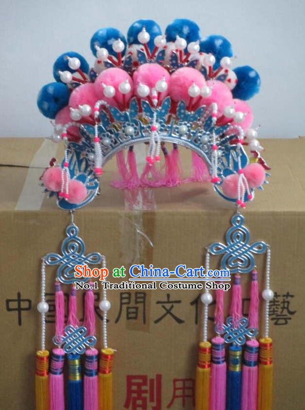 Oriental Chinese Traditional Mu Guiying Hua Mulan Phoenix Coronet Hat
