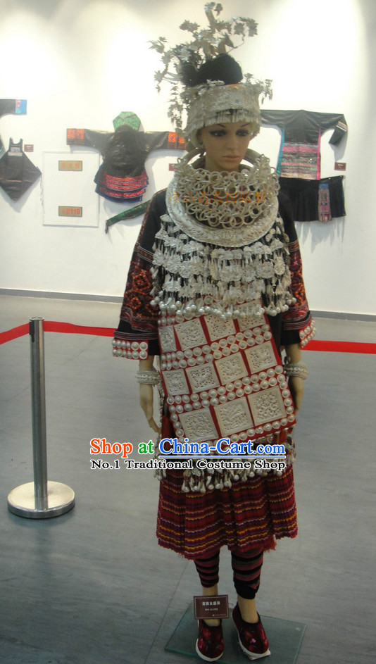 Oriental Clothing Chinese Miao Traditional Ethnic Clothing in China