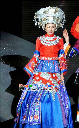 c9c7b75b53b7 Oriental Clothing Chinese Traditional Miao Clothing for Sale Ethnic Plus  Size Clothes and Hat online