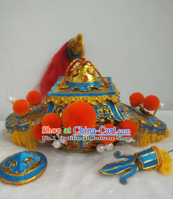 Chinese Traditional Opera Ethnic King Hat