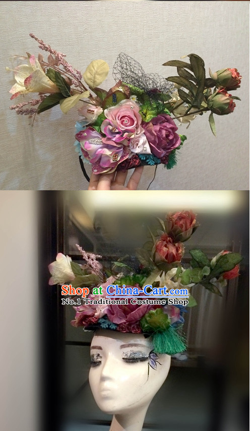 Custom Made Designer Flower Hair Fascinators Hair Slides Headpieces Hair Ornaments