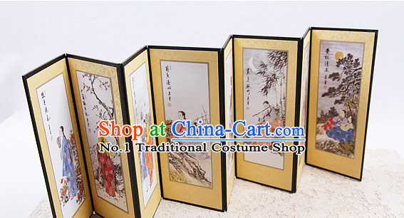 Korean Traditional Folding Screen Decorative Arts