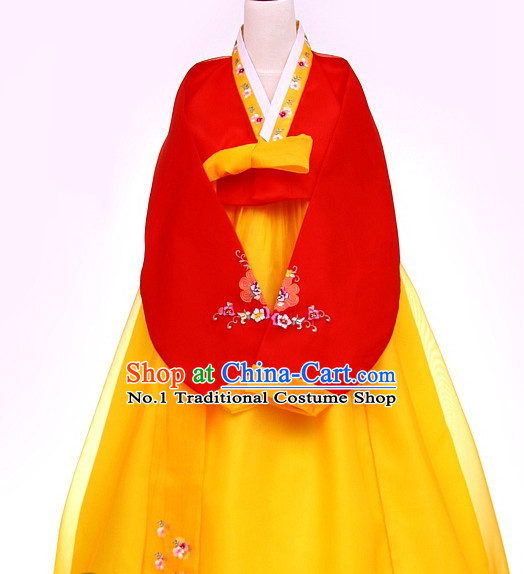 Top Korean Traditional Custom Made Dancing Hanbok Costumes Complete Set for Women