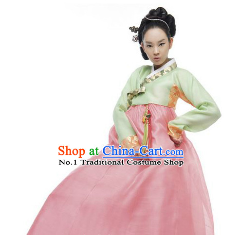 Traditional Korean Custom Made Dangui Hanbok Clothing Complete Set for Women