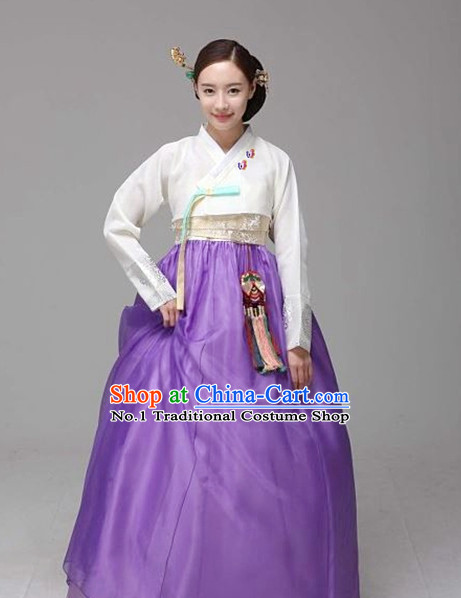 Traditional Korean Custom Made Special Day Customized Hanbok Costumes Complete Set for Women