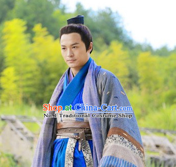 Chinese TV Drama Guo Jing Superhero Costumes Complete Set for Men