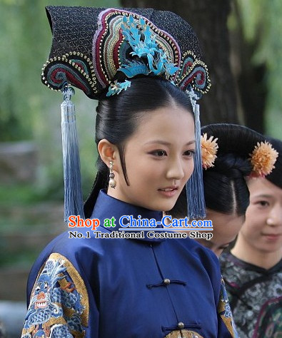 Chinese Qing Dynasty Manchu Hat Hair Accessories