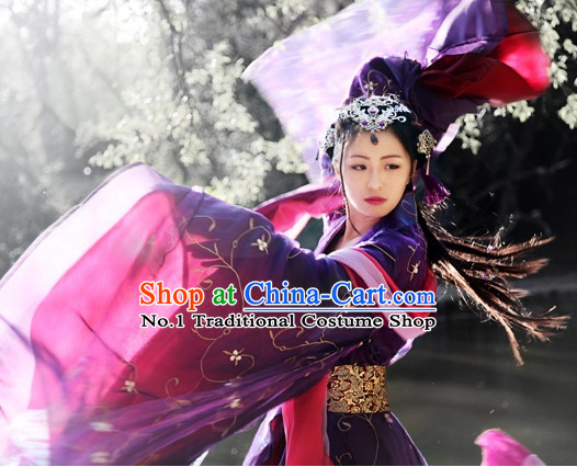 Asia Fashion Ancient China Culture Chinese Carnival Empress Costumes and Hair Accessories