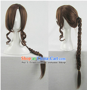 Asian Style Chinese Cosplay Traditional Wig China Ancient Costume Wig
