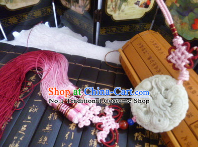 Chinese Traditional Hanfu Jade Belt Accessory