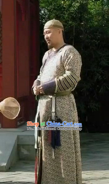 Chinese Emperor Clothes and Hat Complete Set