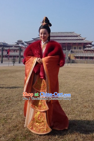 Chinese Ancient Queen Costumes and Hair Jewelry Complete Set