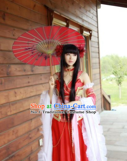 Asia Fashion Chinese Sexy Queen Halloween Cosplay Costumes and Headwear