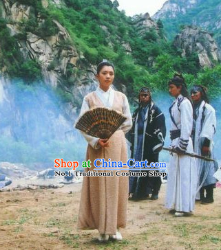 Chinese Ancient Swordsmen Costumes Complete Set for Men or Women