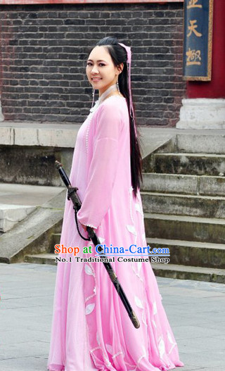Chinese Ancient Female Superhero Costumes Complete Set