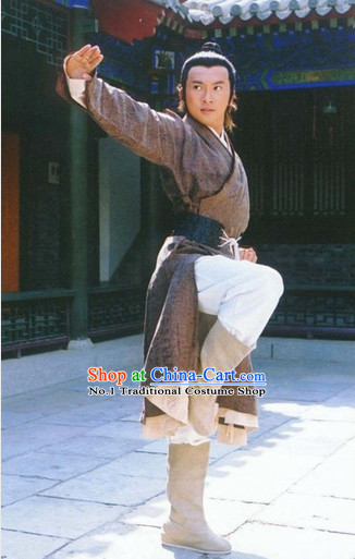 12a3cc758 Chinese Ancient Kung Fu Master Superhero Costumes Complete Set for Men