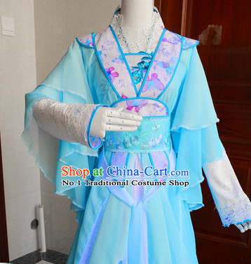 Chinese Traditional Swordswoman Costumes Complete Set