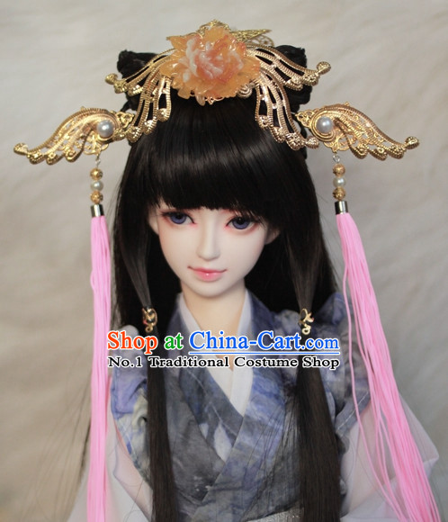 Traditional Chinese Empress Wigs and Hair Clips Accessories
