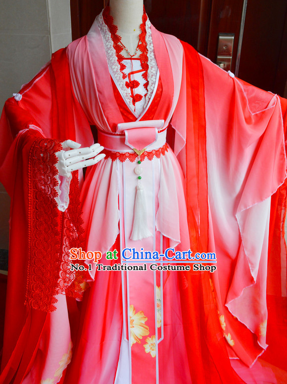 Chinese Traditinoal Bridal Wedding Dress Complete Set