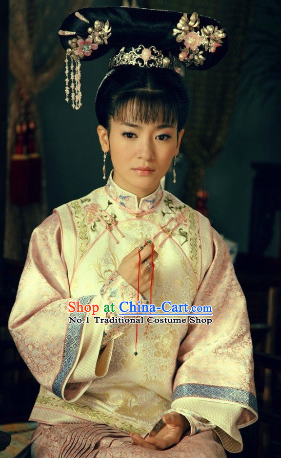 China Fashon Qing Dynasty Manchu Mandarin Gown