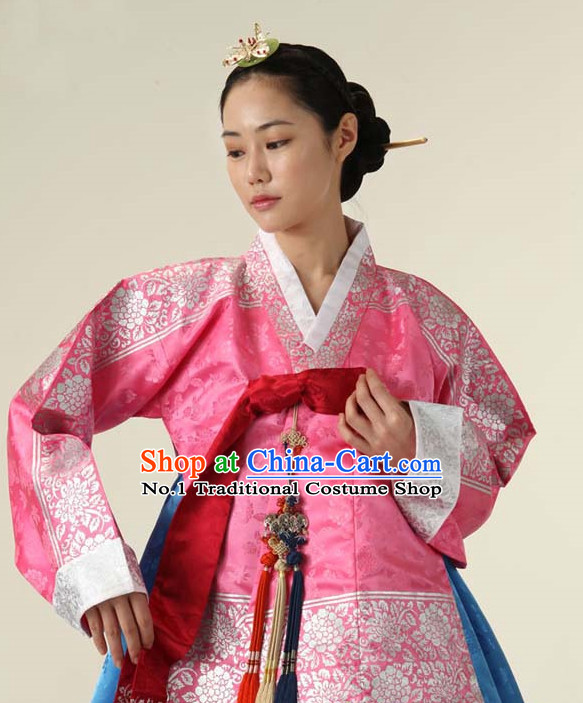 Korean Traditional Roayl Hanboks Dress Dangui Outfit Complete Set