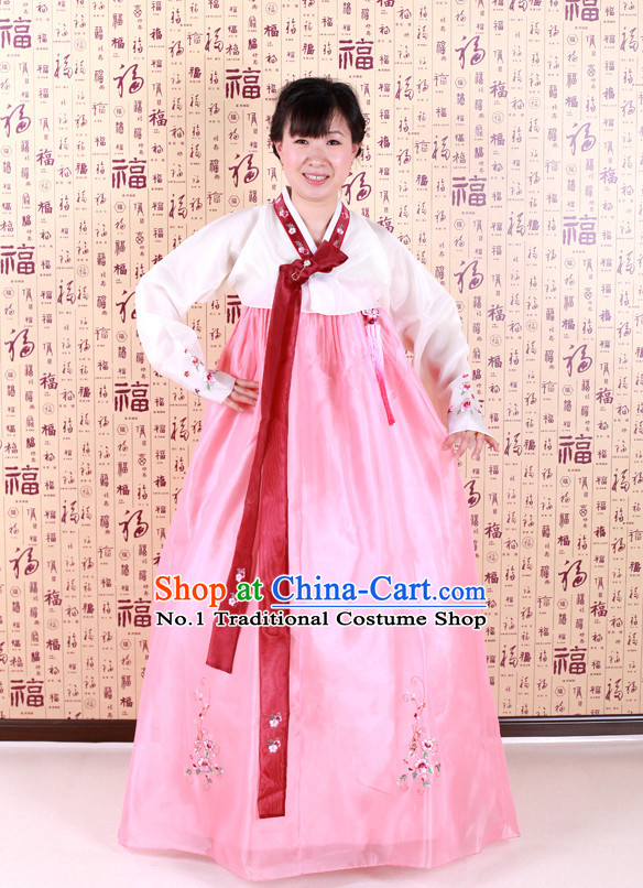 Korean Traditional National Dancing Costumes for Women