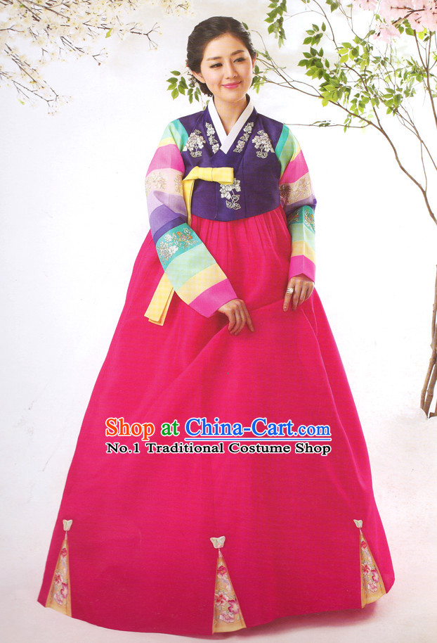 Korean Special Day Hanbok Tradiitonal Dresses for Women
