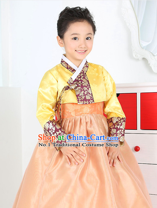 Korean Birthady Children Dress Hanbok Clothing for Girls