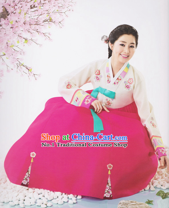 Korean Wife Traditional Dresses Hanbok Clothes Complete Set