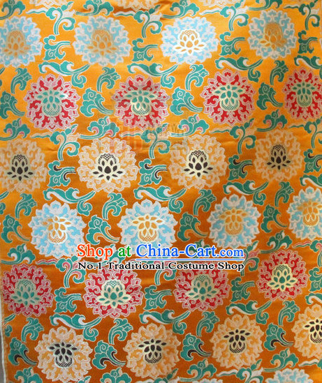Asian Tibetan Brocade Embroidered Fabric Upholstery Material