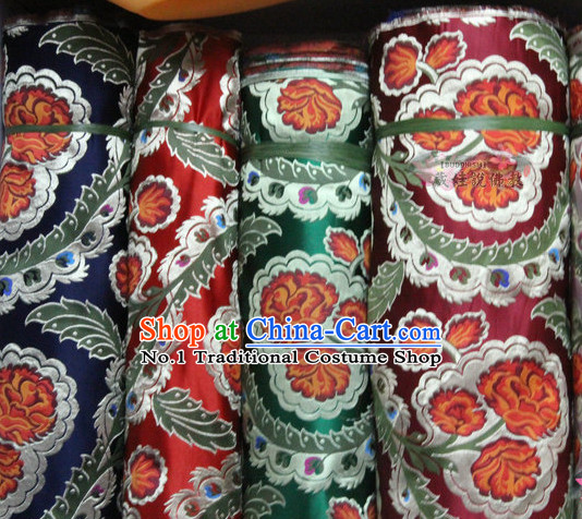 Chinese Brocade Upholstery Embroidered Fabric Dress Material