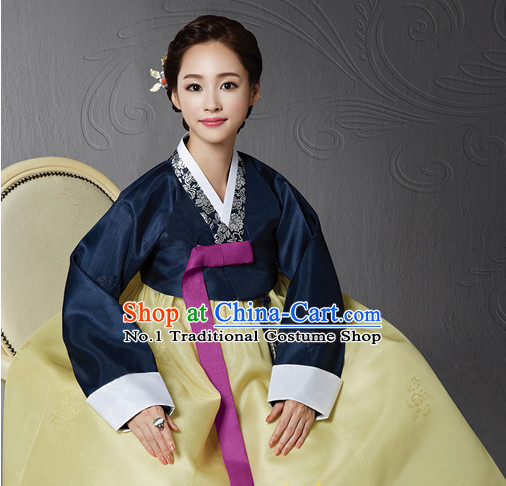 Korean Traditional Dresses Imperial Female Plus Size Dress Fashion Clothes Complete Set