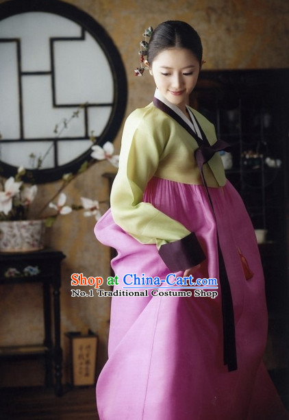 Korean Traditional Dress Female Plus Size Dancing Clothing Complete Set
