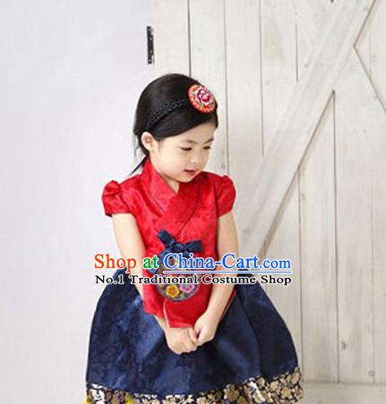 Korean Traditional Dress Kids Plus Size Dancing Clothing Complete Set
