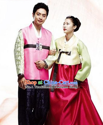 Korean Female and Male National Dress Costumes Traditional Costumes Traditional Clothing