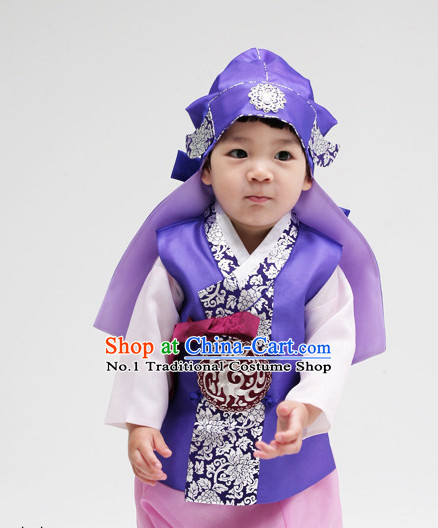 Korean Children National Costumes Traditional Costumes Hanbok Dresses