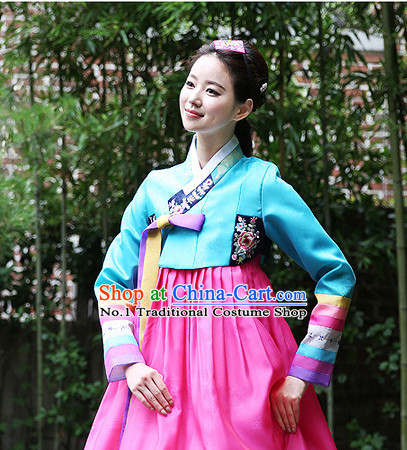 Korean Woman National Costumes Traditional Costumes Hanbok online Shopping
