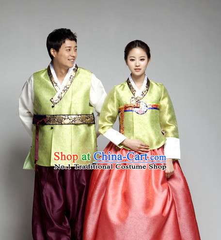 Korean Plus Size Clothing Fashion Clothes Dance Attire Dance Gear Hanbok 2 Sets