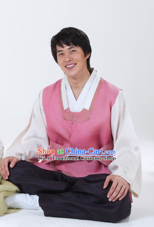 Traditional Korean Fashion Style Husband Clothes Complete Set