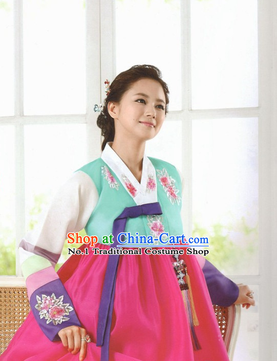 Korean Hanbok Woman Clothing Fashion Clothes Korean Traditional Dresses