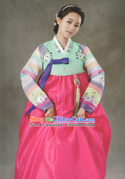 Korean Hanbok Lady Clothing Ladies Fashion Clothes Korean Traditional Dresses