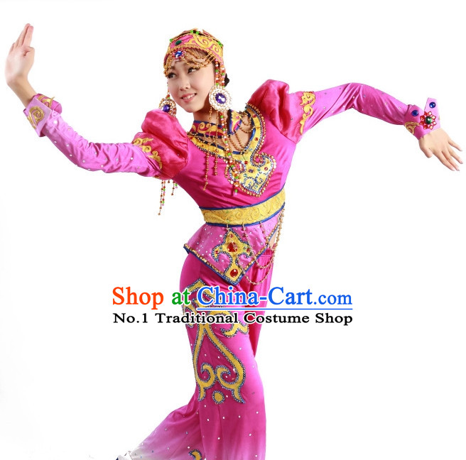 Chinese Mongolian Costumes and Hat for Women