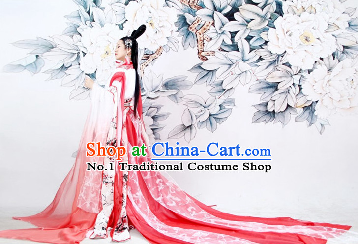 Chinese Princess Ancient Style Costumes and Hair Accessories Complete Set