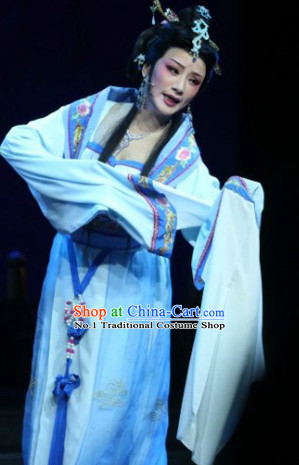 Chinese Traditional National Costumes Opera Dan Costume and Headpieces